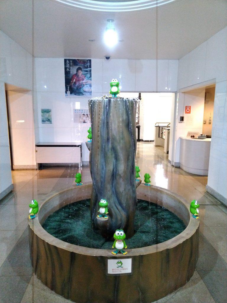 入口の噴水