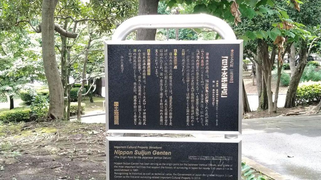 日本水準原点標の石碑画像